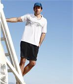 Pack of 2 Men's Shorts - Black Blue - Summer Freedom preview3