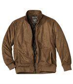 Kamelowa kurtka ze sztucznego zamszu preview2