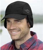 Men's Black Sherpa-Lined Microfibre Cap