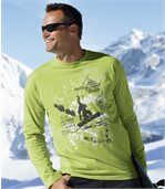 2er-Pack Longsleeves mit Wintermotiv preview2