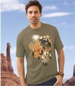 Men's T-Shirt with Native American Indian Print preview1