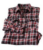 Men's Red Rodeo Ranch Flannel Check Shirt preview2