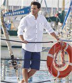Men's White Shirt with a Mandarin Collar preview3