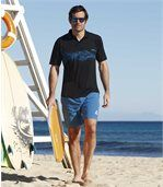 Pack of 2 Men's Shorts - Black Blue - Summer Freedom preview2