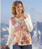 Květované tričko vpastelových barvách