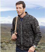 Pletený sveter sflísovou podšívkou preview2