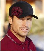 Men's Stylish Black and Red Baseball Cap preview1