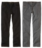 2er-Pack Stretch-Jeans im Regularschnitt preview1