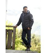 Men's Navy Parka Coat - Winter Valley preview3