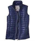 Temně modrá prošívaná vesta preview2