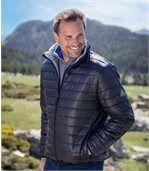 Men's Black Water-Repellent Padded Jacket