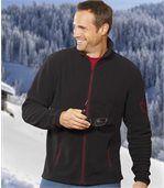 Pack of 2 Men's Rocky Mountain Microfleece Jackets - Grey Black