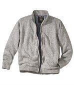 Pletená bunda sprešívanou podšívkou preview2