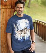 T-Shirt mit Wolfsmotiv preview1