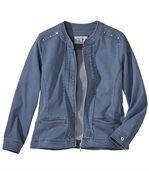 Pohodlná bunda zo strečovej džínsoviny preview2