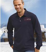 Men's Navy Polo Shirt with Winter Cup Embroidery - Jersey preview1