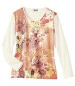 Tee-Shirt Floral Pastel