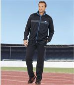 Men's Navy Blue Ultra-Comfort Tracksuit - Brushed Fleece Polycotton preview2