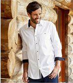 Weisses Casual-Hemd aus Popelin