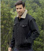 Dżinsowa kurtka z kożuszkiem sherpa preview2