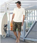 Bermuda mit Camouflage-Muster preview2