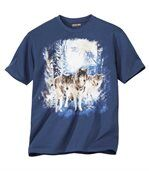 T-Shirt mit Wolfsmotiv preview2
