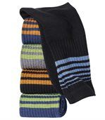 Pack of 5 Pairs of Men's Sports Socks - Grey Black Blue preview1
