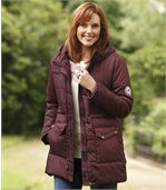 Women's Burgundy Padded Jacket preview1