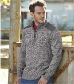 Men's Grey Half Zip Jumper - with Wool preview1