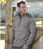 Pletený sveter na zips preview1