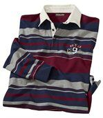 Men's Navy Striped Rugby Shirt - Jersey preview2