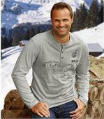 Set van 2 Snow Expedition longsleeves met officierskraag