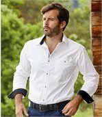 Casual witte overhemd van popeline