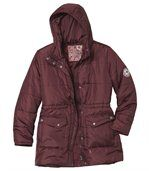 Women's Burgundy Padded Jacket preview2
