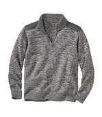 Men's Grey Half Zip Jumper - with Wool preview2