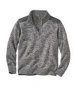 Pletený sveter na zips preview2