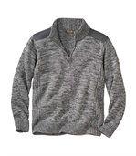 Pletený svetr na zip