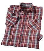 Men's Red Checked Shirt preview2