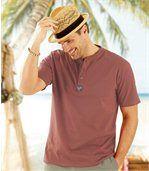 Zestaw 3 t-shirtów Molokai z dekoltem zapinanym na guziki preview2