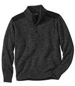 Pullover mit geknöpftem Kragen preview2