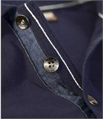 Men's Navy Polo Shirt with Winter Cup Embroidery - Jersey preview3