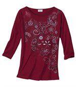 Květované tričko s lodičkovým výstřihem preview2