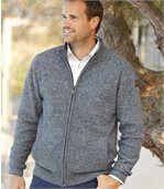 Pletený svetrík na zips Casual preview1