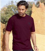 Pack of 4 Men's T-Shirts - Brown Blue Navy Blue Ecru - Strong Roots preview2