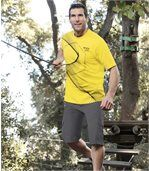 Pack of 2 Men's Design T-Shirts - Yellow Grey preview2