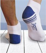 Pack of 4 Pairs of Men's Trainer Socks - Black Navy Grey White preview2