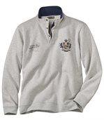 Molton-Sweatshirt mit geknöpftem Kragen preview2