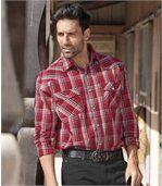 Koszula w czerwoną kratę Kierunek Western preview1