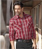 Men's Checked Western-Style Shirt - Cotton preview1