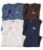 Zestaw 4 t-shirtów w jednolitych kolorach preview1